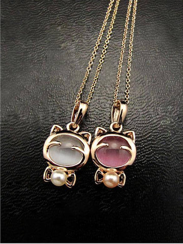 Necklace - Gold Plated Cat Necklace
