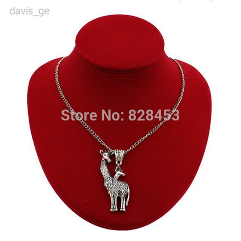 New hot sell diy women jewelry vintage silver love giraffe pendant necklace new hot sell diy women jewelry vintage silver love giraffe pendant necklace 24 aloadofball Choice Image