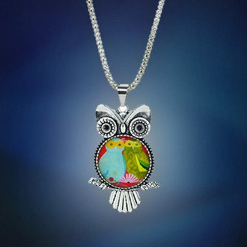 Owl jewelry necklace owl pendant necklace free shipping aloadofball