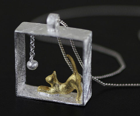 Rectangle cat pendants necklaces jewelry blue lion jewels necklace rectangle cat pendants necklaces jewelry mozeypictures Choice Image