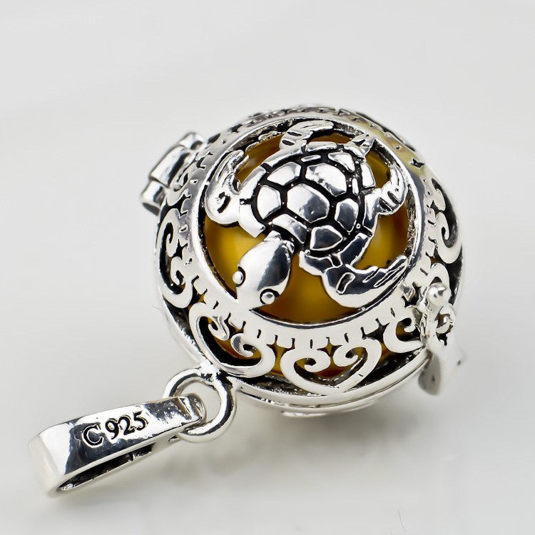 Vintage jewelry 1614mm silver turtle pendant colorful harmony ball vintage jewelry 1614mm silver turtle pendant colorful harmony ball angel caller bola pendant mozeypictures Choice Image