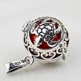 Necklace - Vintage Jewelry 16*14mm Silver Turtle Pendant Colorful Harmony Ball Angel Caller Bola Pendant