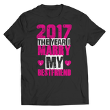 Limited Edition - 2017 The Year I Marry My Bestfriend ( black/pink design )