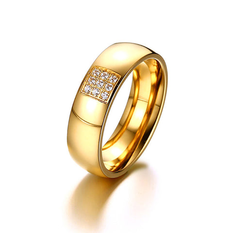 women ring purity etsy wedding simple market solid il gold rings for