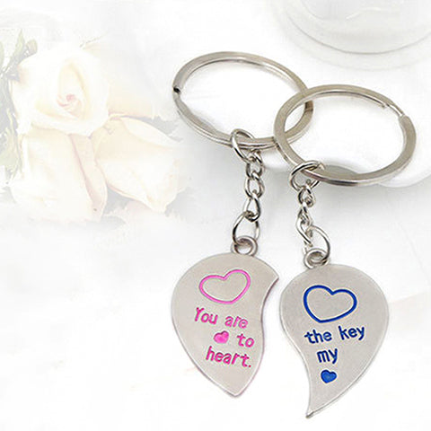 268b745a01 1 Pair Lover Couple Love Heart Key Ring, Keychain Wedding Gift Keyring (You  are the Key to my Life) | Blue Lion Jewels