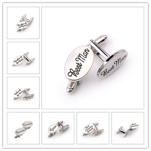 Groomsmen wedding party personalized cufflinks