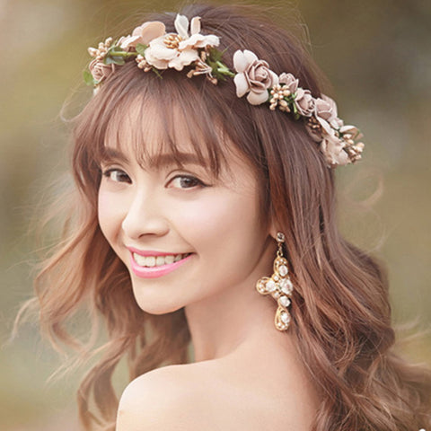 Plant Pageant Multicolor Flower Crown Bridal Hair Accessory Wedding Luxury  Tiara  4eb12761d59