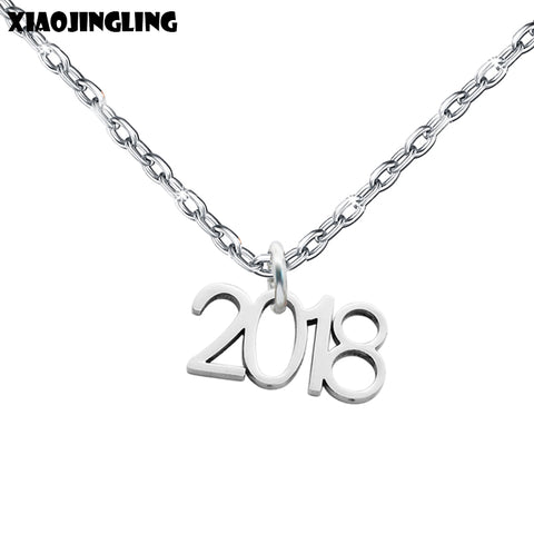 '2018' Pendant Necklace for Graduation Gift
