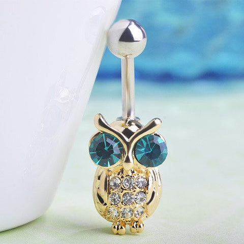 Ring - 18K Gold Owls Belly Rings