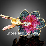 Rings - 1Pcs 24K Gold Plated Gorgeous Alloy Ring Flower And Bird Design Fashion Rings