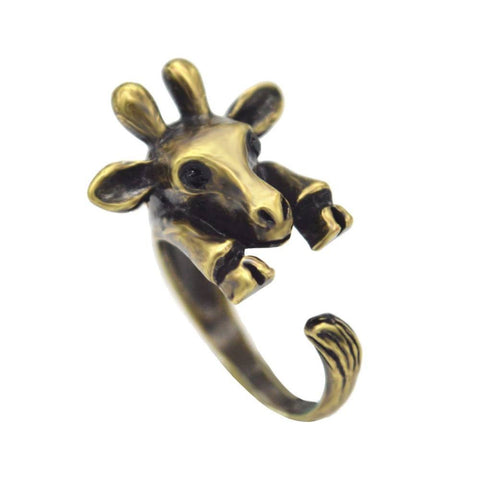 Rings - Hot Sale Adjustable Giraffe Animal Wrap Rings For Women And Girls Unique Statement Beautiful Ring Fashion Jewelry