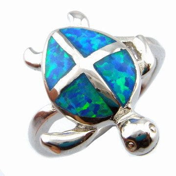 Rings - Mexico Opal Jewelry Ring Blue Opal Ring Opal Turtle Ring