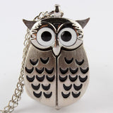 Watch - Cute Night Owl Vintage Pocket Watch Pendant Long Necklace - Save 50% Off