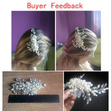 Wedding Hair Accessories Crystal Pearl Flower Rhinestone Tiara Bridal Hairpin