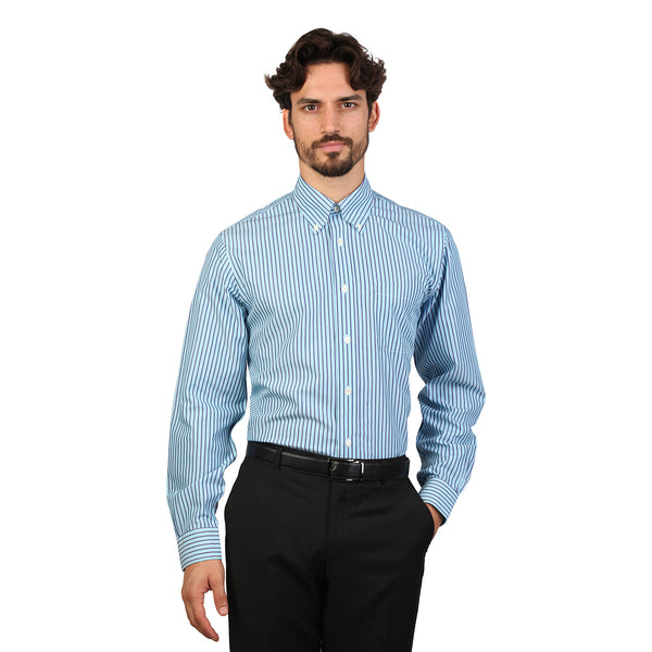 Brooks Brothers steelblue Men Shirts