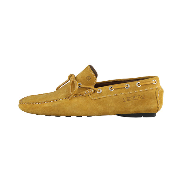 Sparco Yellow Men Moccasins