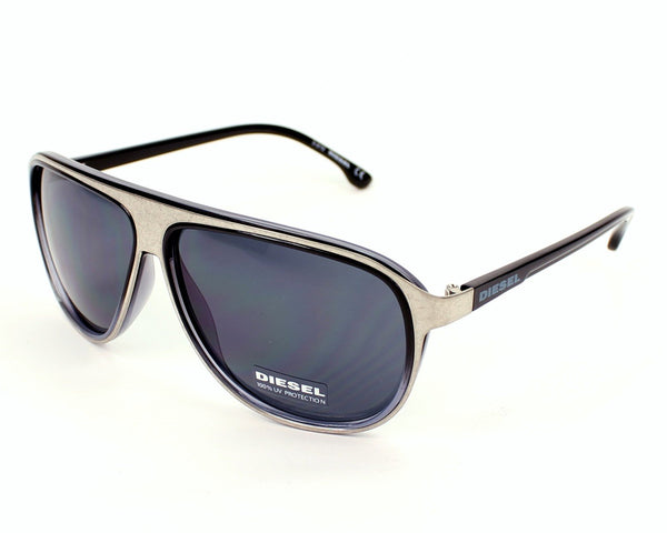 Diesel silver,black Men Sunglasses