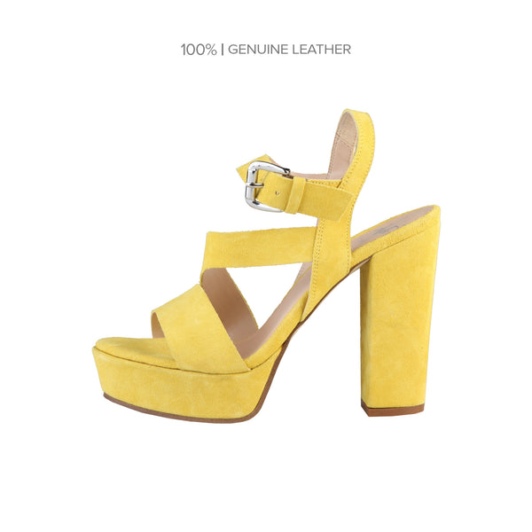 V 1969 Yellow Women Sandals
