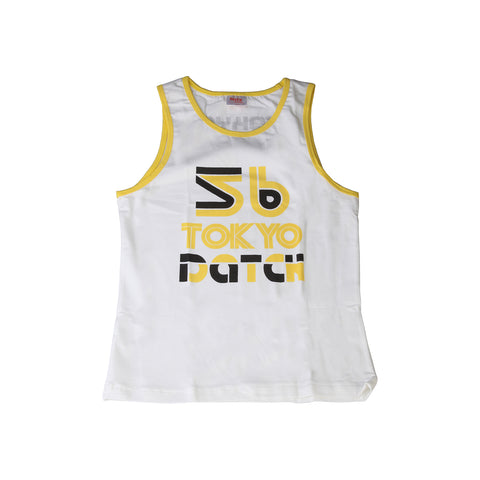Datch white, yellow Kids Tank tops