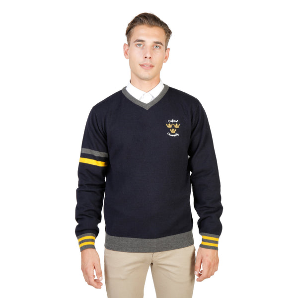 Oxford University Blue Pullovers - OXFORD_TRICOT-VNECK-NAVY