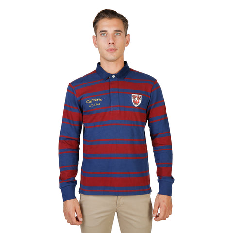 Oxford University Red Polo - QUEENS-RUGBY-ML-RED