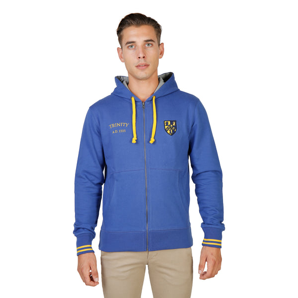 Oxford University Blue Sweaters - TRINITY-HOODIE-ROYAL