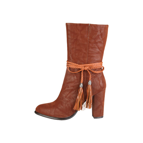 V 1969 Brown ankle boots - CLERVIE_MARRONE