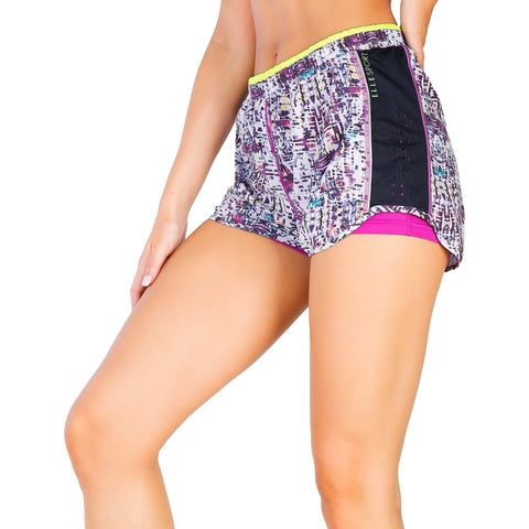 Elle Sport White Women Short