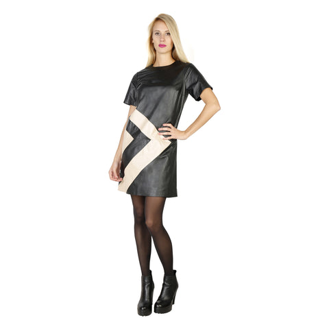 Silvian Heach Black Dresses - FCA16280VE_BLACK-BEIGE