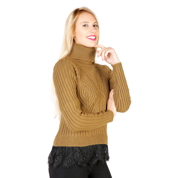 Silvian Heach Yellow Pullovers - PGA16283MA_MIRRA-BLACK