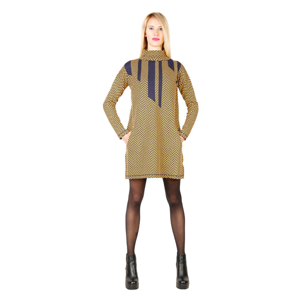 Silvian Heach yellow, navy Women Dresses