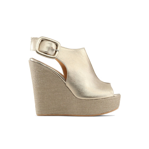 Made in Italia Gold Women Wedges