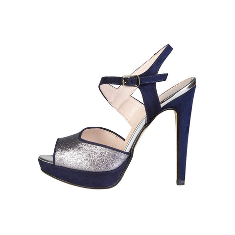 V 1969 midnightblue,silver Women Sandals