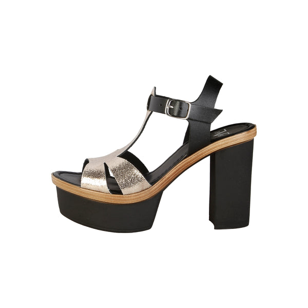 V 1969 black, gold Women Sandals