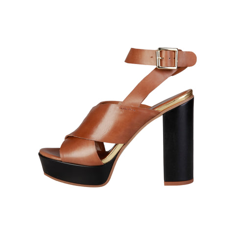Pierre Cardin Brown Women Sandals