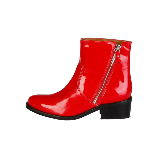 V 1969 Red Ankle boots