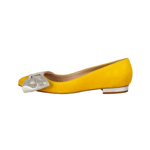 V 1969 Yellow Women Ballet flats