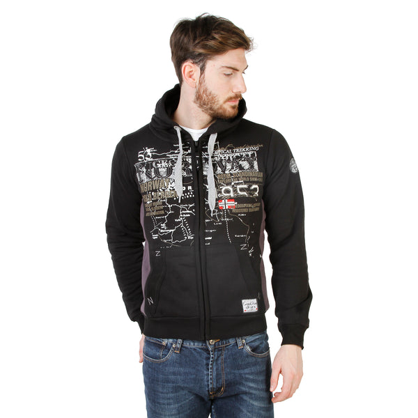Geographical Norway Black Men Sweatshirts
