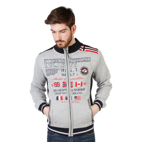 Geographical Norway lightgray,red Men Sweatshirts