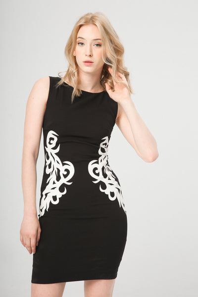 Fontana 2.0 black,white Women Dresses