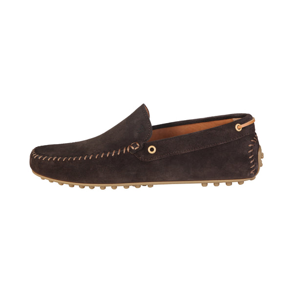 Trussardi Brown Men Moccasins