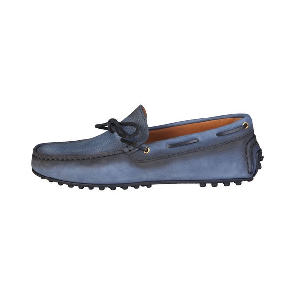 Trussardi Blue Men Moccasins