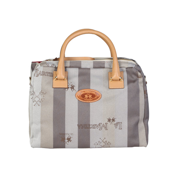 La Martina Grey Women Handbags