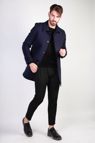 Made in Italia darkblue,burlywood Men Coats