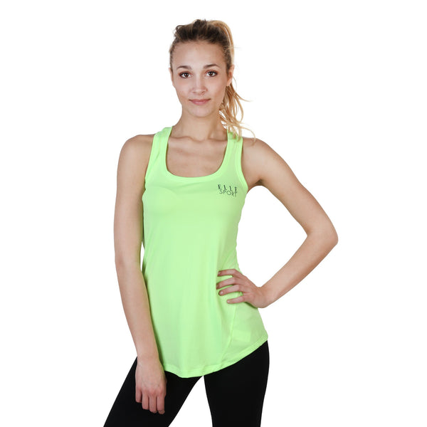 Elle Sport Yellow Women Tops