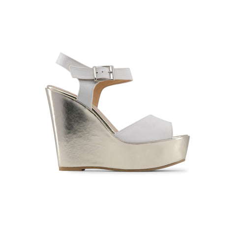 Made in Italia white,gold Women Wedges