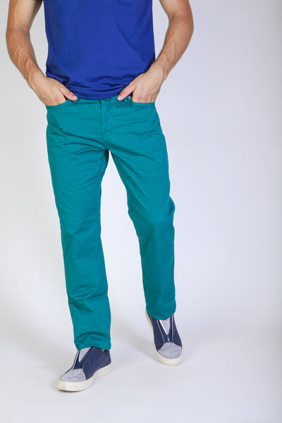 Jaggy teal Men Trousers