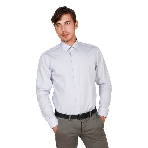 Trussardi Grey Men Shirts