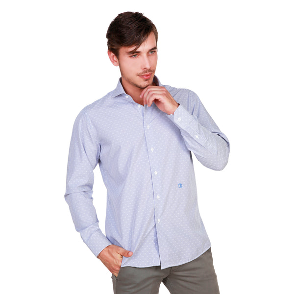 Trussardi Blue Men Shirts