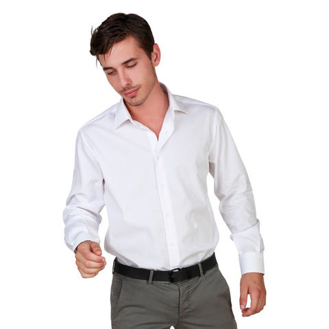Trussardi White Men Shirts